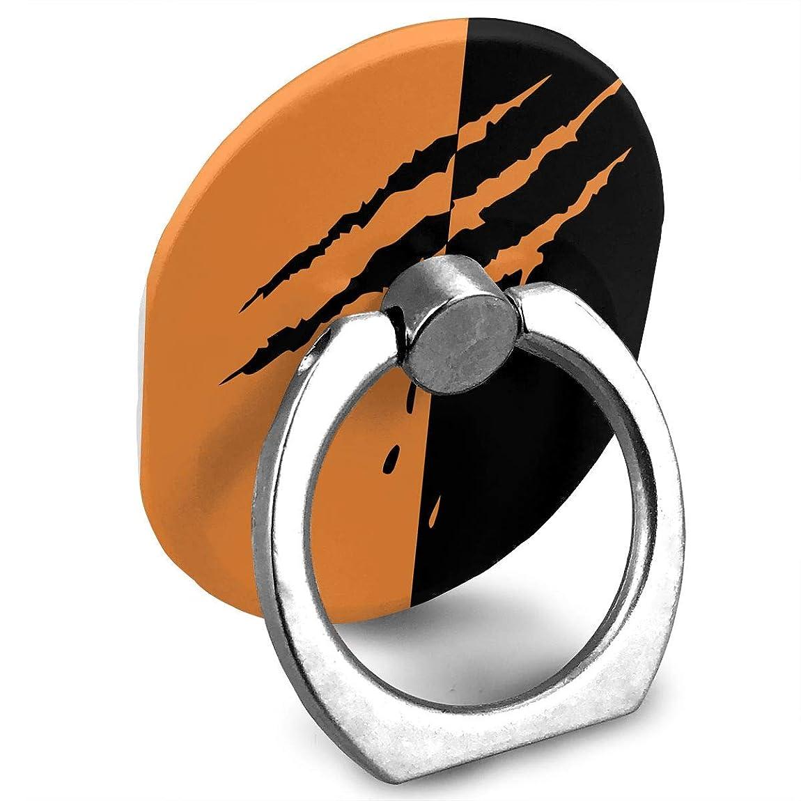 満足できる徹底についてブラックオレンジ 傷跡 プリント スマホリング 薄型 楕円 スマホ りんぐ ホルダー 強吸着力 落下防止 携帯リング 360° 角度調整 IPhone/Android各種他対応