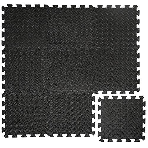 EYEPOWER 0,8qm 9er Set Bodenschutzmatten 30x30x1 Fitness Bodenmatte Schutzmatte