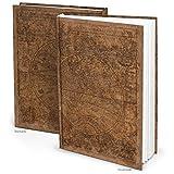 XXL Notizbuch 'Alte Welt' braun DIN A4 164 Seiten mit leeren weißen Seiten