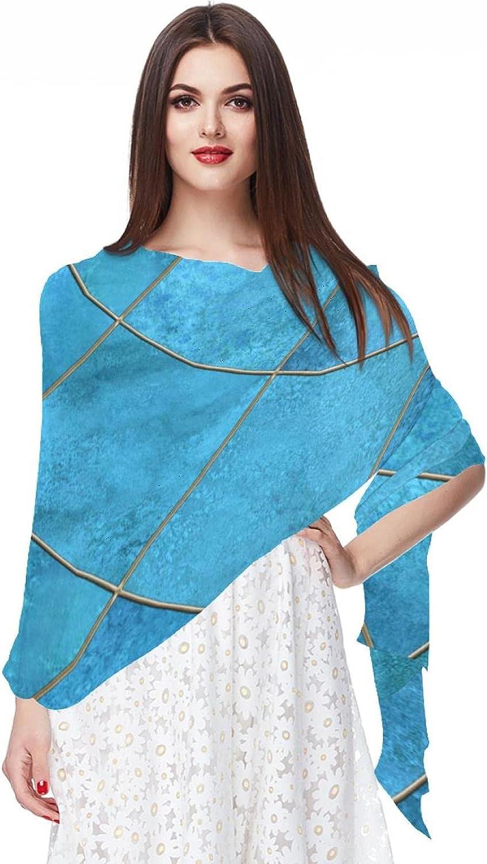 Scarfs for Women Lightweight Fashion Scarves Print Floral Pattern Scarf Shawl Wraps, Rhombus Blue