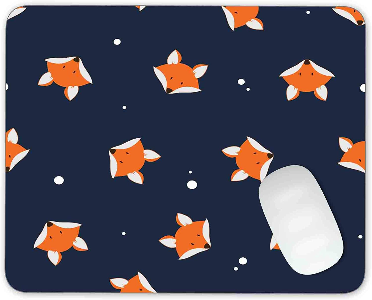 Timingweng Orange Fox's Head on Background Gamin Dark pad Cheap mail order sales Mouse Now sale