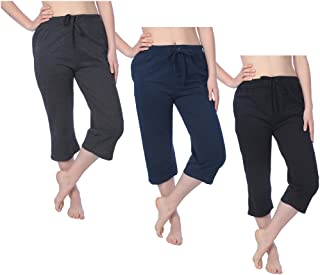 Women's Capri French Terry Pant Available in Plus Size