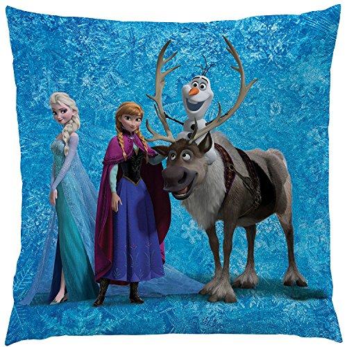 La Reine des Neiges Fille Coussin Elsa Anna 40 x 40 cm - Bleu - TU