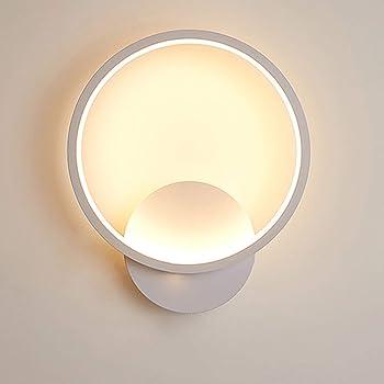 Yafido Applique Murale Interieur LED 13W Lampe Murale Ronde Blanc Chaud 3000K Moderne pour Chambre Salon Escalier Couloir AC 220V
