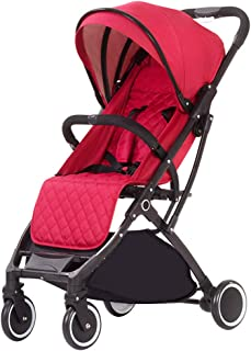Okänd DZWSD barnsportbil resebuggy kompakt, vikbar och lätt ram överdimensionerad översyn och stor förvaringskorg lämplig ...