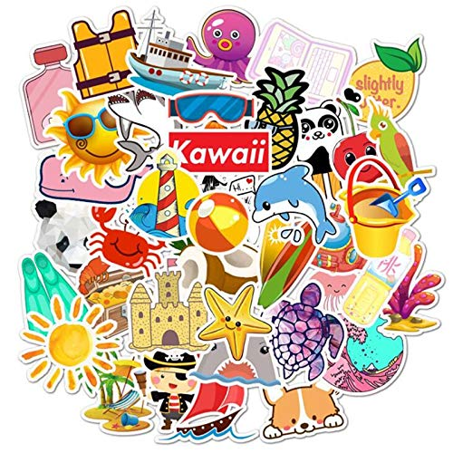 50pcs Anime Lovely Fresh Casual Style Laptop Sticker Waterproof Suitcase DIY Skateboard Decals For MacBook/HP Notebook
