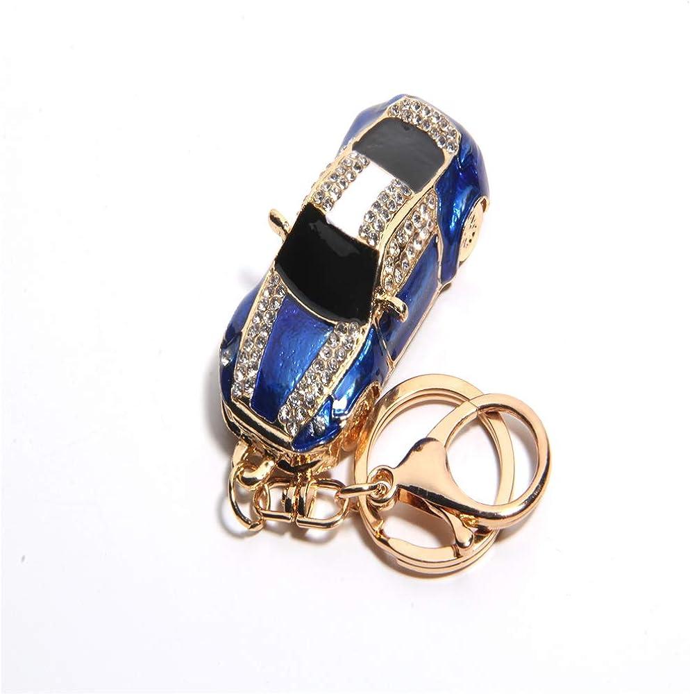 YANHE Fashion Rhinestone Alloy Resin Women Car or Bag Keychain