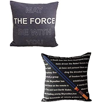 H&N (Set of 2) Star Wars Pillowcases Pillow Covers Decorative 100% Cotton Line (Variety B)