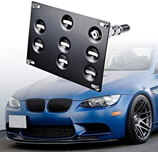 GTP Front Bumper Tow Hook License Plate Mounting Bracket Relocator Holder for BMW 98-11 3 Series 4DR E46 E90 E91, 07-13 3-Series 2DR Coupe E92 E93, E82 E88 E39,1/3/5 Series, 325i 328i, E70 E71 X5 X6