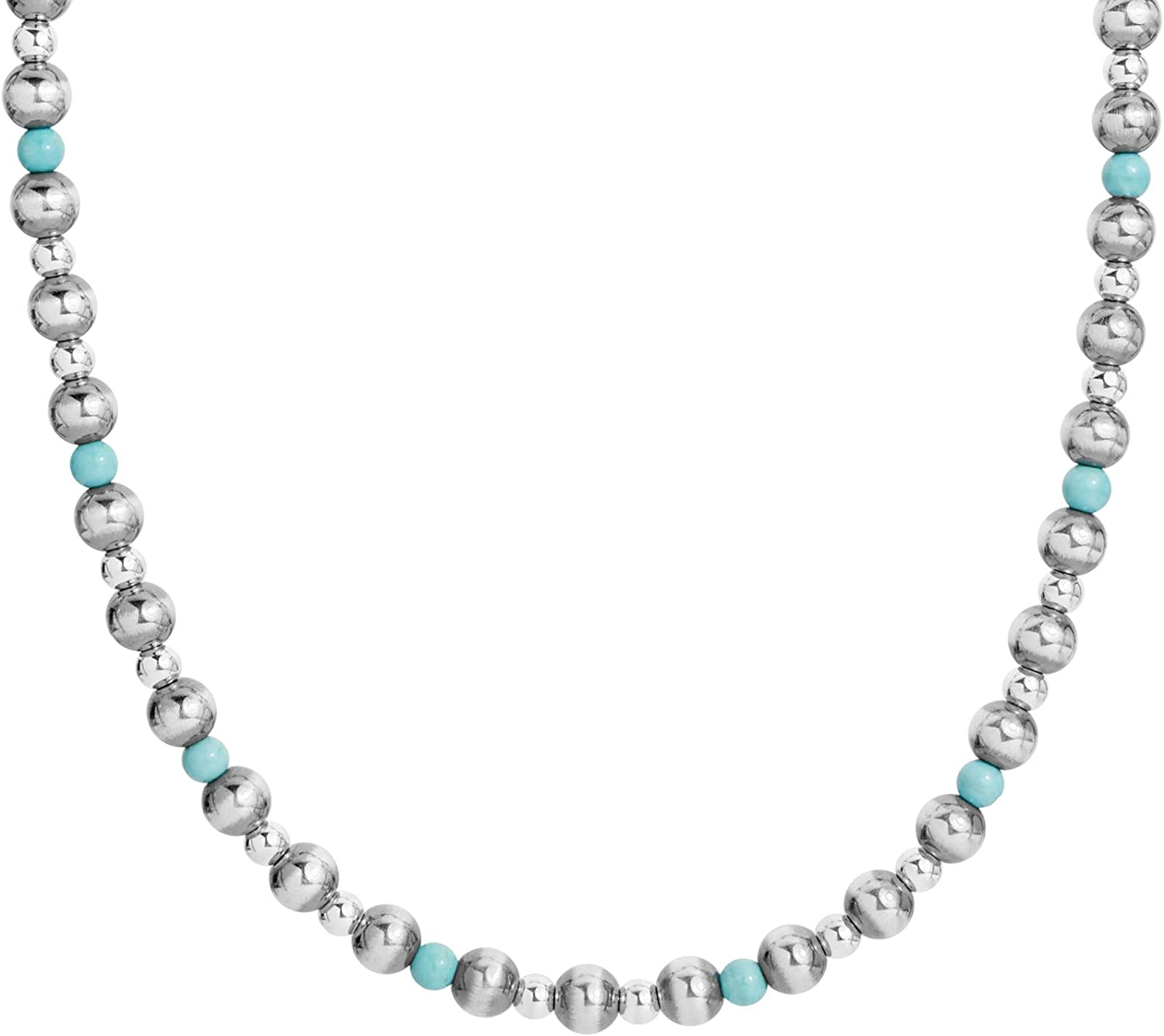 American West まとめ買い特価 Sterling Silver Choice of 期間限定送料無料 Beaded Necklace Gemstone