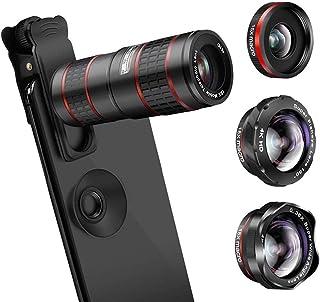 L.J.JZDY telefonlins mobiltelefonlins fem-i-ett 12 x dubbel justering/vidvinkellins, teleskop fiskheye SLR kameratillbehör