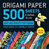 Origami Paper 500 Sheets Nature Photo Patterns 6 Inches: High Quality Double-sided (Origami Paper Pack 6 Inch)