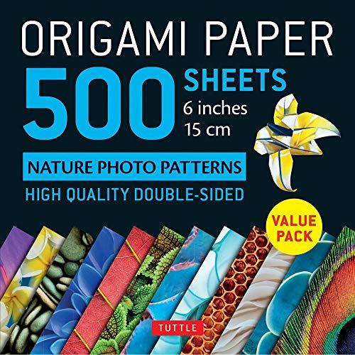 Origami Paper 500 sheets Nature Photo Patterns 6 (15 cm): Tuttle Origami Paper: High-Quality Double-Sided Origami Sheets Printed with 12 Different Designs (Instructions for 6 Projects Included)