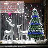 OUYAWEI Adjustable Flashing Full Optical Fiber Artificial Christmas Tree with Iron Stand for Indoor Decor 120CM (EN0126305)
