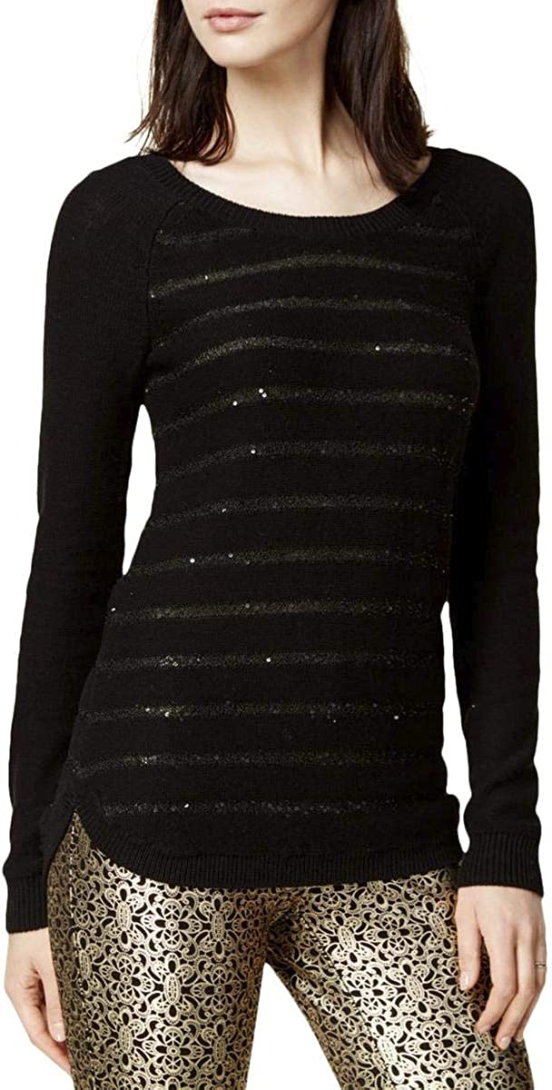 Maison Jules Sequin Striped Sweater