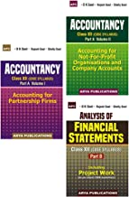 Class XII - Accountancy Vol 1 & 2 + Analysis of Financial Statements (Part B) (Set of 3 books)