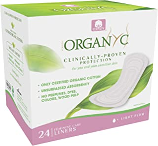 Organyc 100% Certified Organic Cotton Folded Panty Liner - Everyday Sanitary Pad, Free from Wood Pulp, Perfumes, SAP, and ...