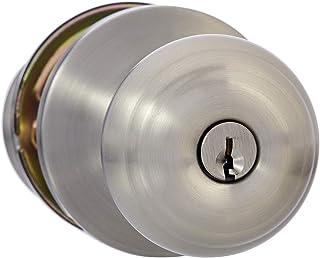Best Amazon Basics Exterior Door Knob With Lock, Classic, Satin Nickel Review