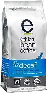 Ethical Bean Coffee Decaf, Dark Roast, Whole Bean, 12 oz Bag