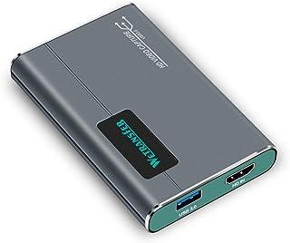 キャプチャーボード, Switch PS4 PS3 Xbox Wii U ゲームライブ録画・配信用,USB 3.0 1080P 60FPS HDCP HDMIビデオキャプチャー,対応Windows Linux Mac/Youtube Twitc...