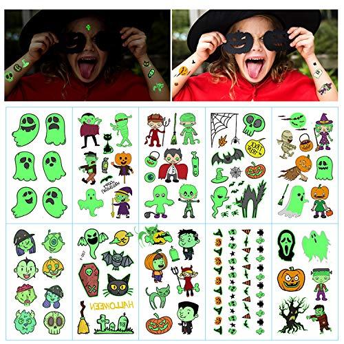 Phogary 10 Hojas Tatuajes temporales Halloween niños
