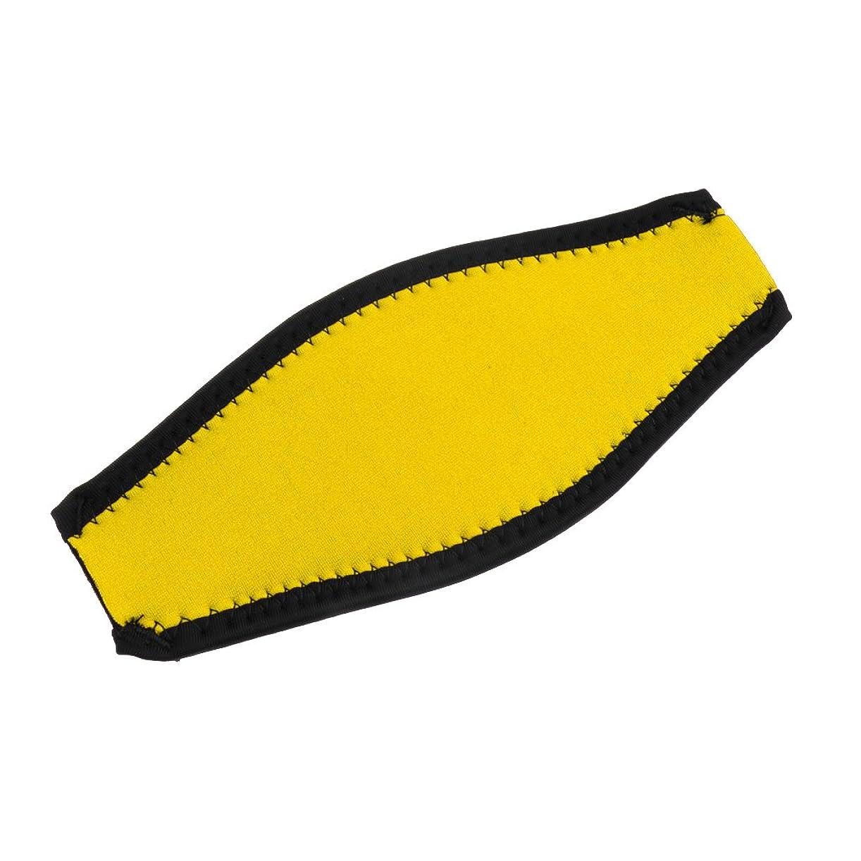 信じる不条理回転するDovewill 水泳 スキューバ ダイビング マスクストラップ カバー ネオプレン 快適 全9色選べる - 黄