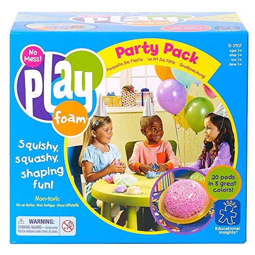 Educational Insights Playfoam Party Pack of 20 | Non-Toxic, Never Dries Out | Great for Birthday Party, Classroom Party, Party Favors & Goodie Bag Filler | Perfect for Ages 3 and up