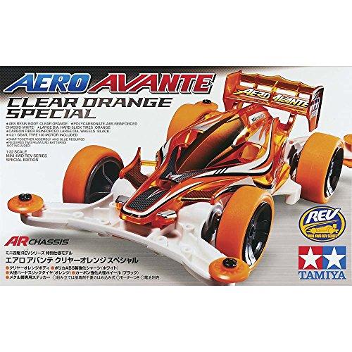 Aero Avante Orange Special AR Chassis Clear Orange Mini4WD Tamiya 95083