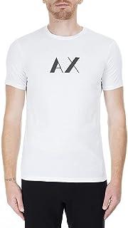 تي شيرت رجالي بأكمام قصيرة ورقبة مستديرة من A|X Armani Exchange مع شعار تي شيرت