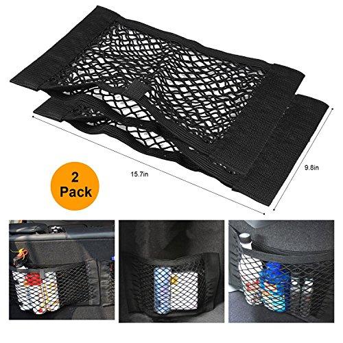 CDCDG GW Schwarzmagische Adhesive-Aufbewahrungsnetz Elastische String-Net-Mesh-Aufbewahrungstasche für Flaschen, Lebensmittel, Lagerung Add On Organizers für Auto-LKW, schwarz