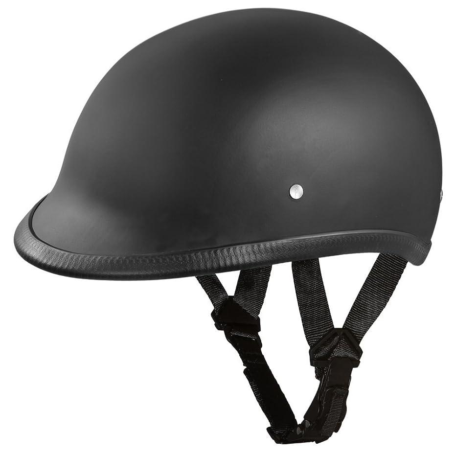Polo Style Motorcycle Helmet   D.O.T. Hawk Dull Black  