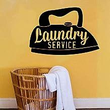 Service de blanchisserie stickers muraux stickers muraux service à domicile chambre décoration murale art design d'intérie...