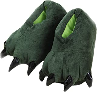 SHIXIAOSHU scarpe per zampe di animali scarpe calde per la casa pantofole in peluche per la casa pantofole dinosauro