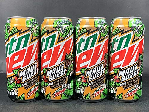 Limited Edition Mountain Dew Maui Burst, 16 fl oz can 4 pack