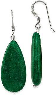 925 Sterling Silver Dark Green Jade Drop Dangle Chandelier Earrings Fine Jewelry Gifts For Women For Her