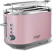 Russell Hobbs Toaster Grille Pain, Fentes XL, Cuisson Ajustable - Rose 25081-56 Bubble