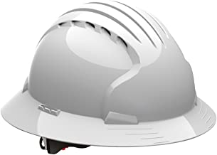Evolution Deluxe 6161 280-EV6161-10V Full Brim Hard Hat with HDPE Shell, 6-Point..