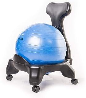 Kikka Active Chair azul - Silla ergonómica con pelota de ejercicio