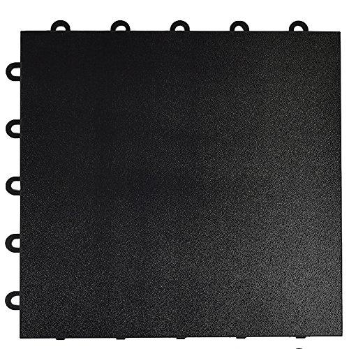 Greatmats Portable Dance Floor 1x1 Ft Tile 26 Pack Black