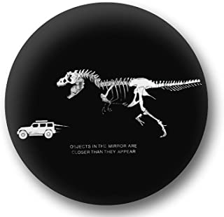 K&O Jeep Spare Wheel Tire Cover [Black Leather Wrangler Accessories] UV Resistant, Heavy Duty, Non-Scratch Soft Back – Personalized T-Rex Chasing Jeep – fits Grand Cherokee, Liberty, Renegade, SUV