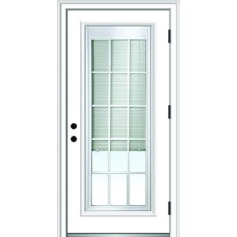 National Door Company Zz364952l Primed Left Hand Outswing Prehung Front Door Full Lite Internal Blinds And Grilles 32 X 80 Steel Amazon Com Industrial Scientific