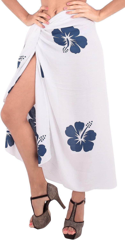 LA LEELA Women's Plus Size Swimwear Wraps Sarong Cover Up Dress Wraps Hand Paint