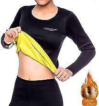 NOVECASA Sauna-Shirts met Lange Mouwen Neopreen-Shirts voor Dames Sport Body Shaper Zweet Vetverbranding Buikvermageringsd...