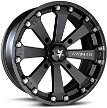 MSA OFFROAD WHEELS M20 KORE Satin Black Wheel with Painted and Chromium (hexavalent compounds) (14 x 7. inches /4 x 112 mm, 0 mm Offset)