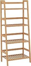 HOMFA Estantería Baño de Bambú Estantería Almacenaje para libros plantas con 4 estantes 48 x 32x 116cm