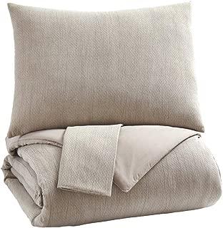 Signature Design by Ashley Mayda Queen Comforter Set, Beige