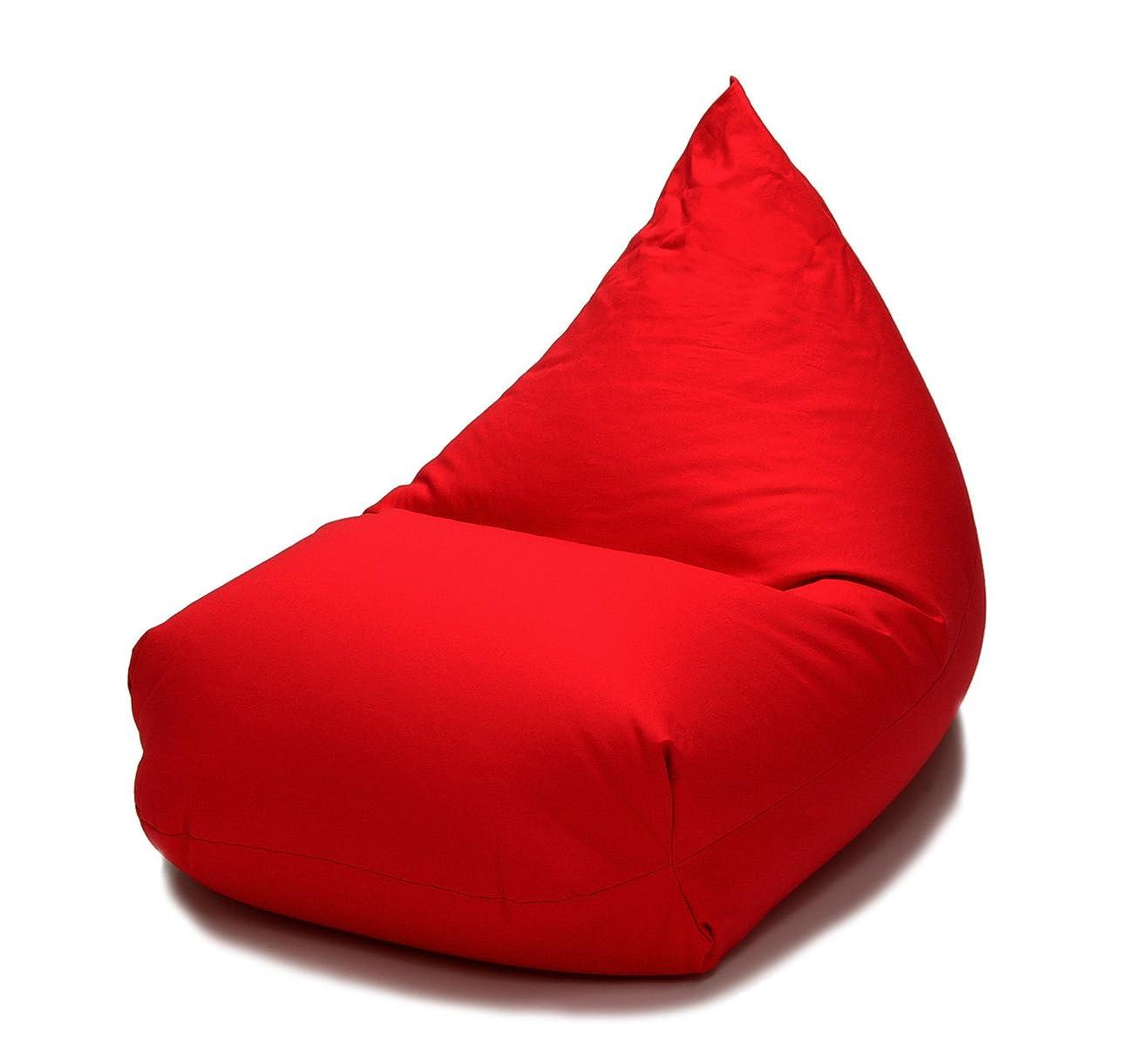概して恵み逃げるビーズクッション レゴリス 日本製 おすすめ ビーズソファー ソファー 座椅子 大ボリューム (レッド)