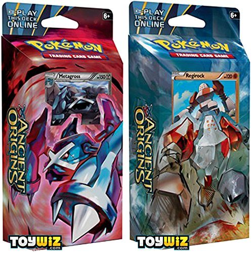 Pokemon GET Both Decks Ancient Origins XY7 Theme Deck Set - TCG XY Trading Card Game - 120 Cards!