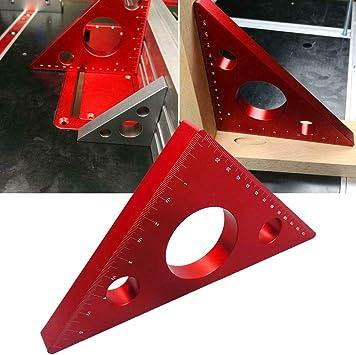 45 Grad Winkel Lineal Aluminiumlegierung Lineal f/ür Holzarbeiten