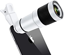 Cell Phone Lens, 14X Zoom Telephoto Lens, HD Phone Camera Lens for iPhone, Samsung, Android Smartphone, Monocular Telescope (White)